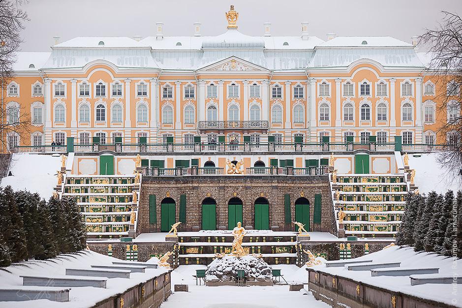 Петергоф зимой 1