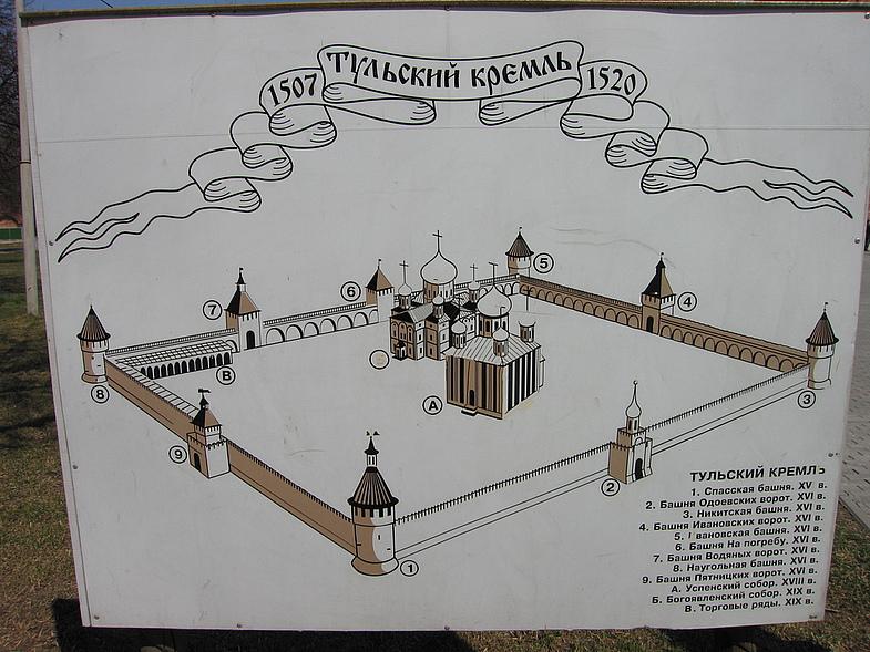Тула Кремль схема